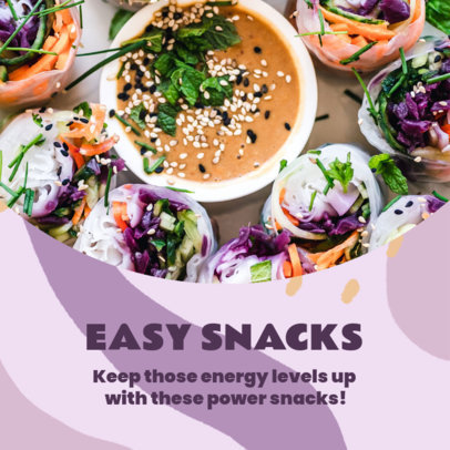 Instagram Post Design Template Featuring Healthy Snacks 3632e