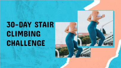 YouTube Thumbnail Template for a Fitness ChallengeYouTube Thumbnail Template for a Fitness Challenge 3641d