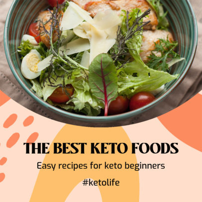 Instagram Post Design Template Featuring Keto Diet Tips 3632g