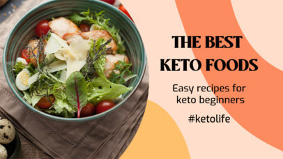 YouTube Thumbnail Design Template Featuring Keto Diet Tips 3632g