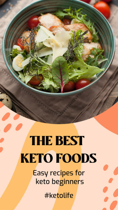Instagram Story Design Template Featuring Keto Diet Tips 3632g