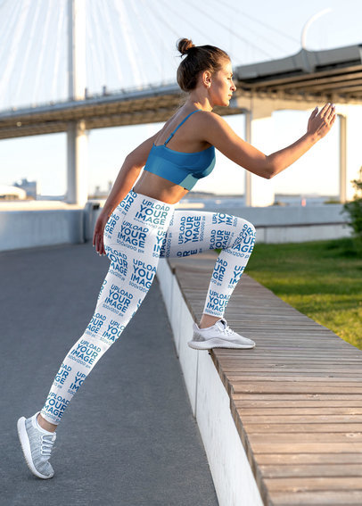 Leggings Mockup Featuring a Woman Working Out M3854-r-el2