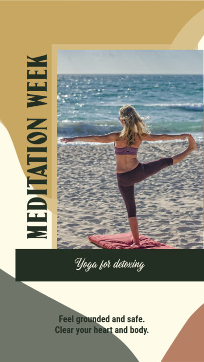 Instagram Story Template With a Meditation Theme 3636d