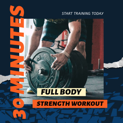 Instagram Post Design Maker with a Strength Workout Routine 3635a