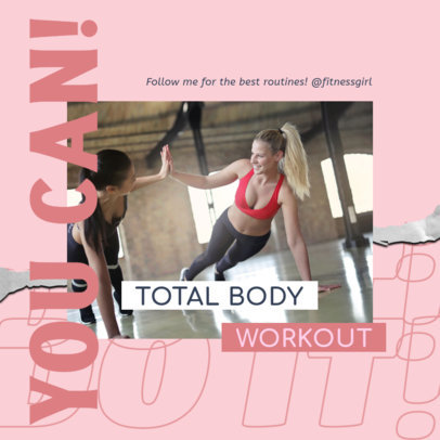 Instagram Post Design Template for Fitness Influencers with a Workout Plan 3635c