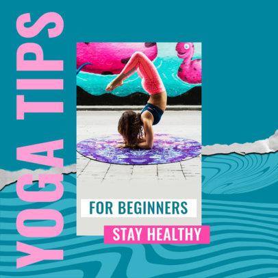 Instagram Post Design Maker to Share Yoga Tips for Beginners 3635d