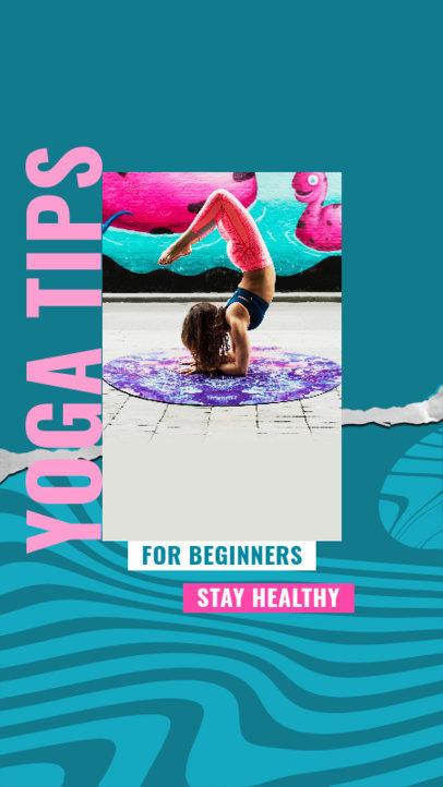 Instagram Story Design Maker to Share Yoga Tips for Beginners 3635d