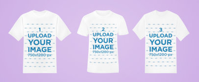 Mockup of Three T-Shirts Over a Plain-Color Background 42411-r-el2