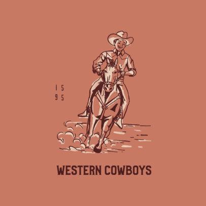 Streetwear Logo Generator with a Cowboy Illustration 4299i