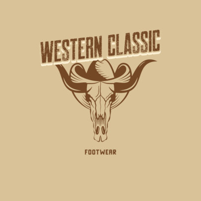 Logo Generator for Western Footwear with a Vintage Graphic 4297f