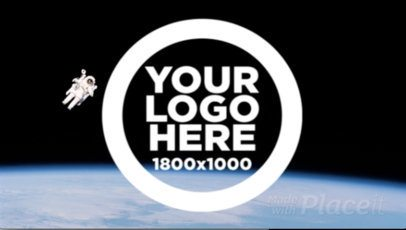 Logo Animation - Logo From Above Spins Out Against White Background 13