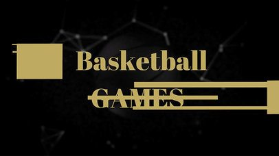 Text Animation Maker with Basketball Graphics 136a