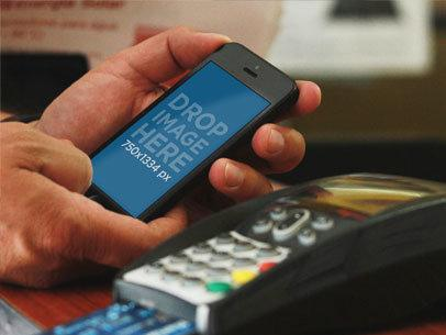 Black iPhone 5 Credit Card Terminal