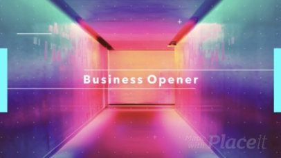 Text Animation Maker for Cool Business Openers 386