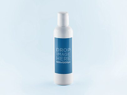 Label Mockup Template of a Small White Bottle a843