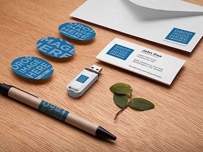 Branding Mockup Featuring a Wide Assortment of Office Supplies a6533