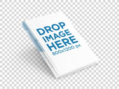 Mockup of a Book Leaning Over a Flat Backdrop 9863