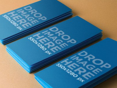 Mockup Template of a Stack of Brochures on a Table a10304