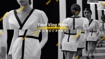 YouTube End Screen Video Maker for Fashion Vlogs 1463a 169