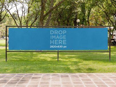 Horizontal Banner Mockup at a Park a10575