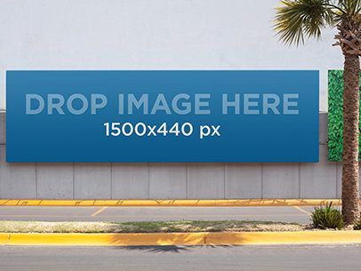 Horizontal Banner Mockup in a Boulevard a10647