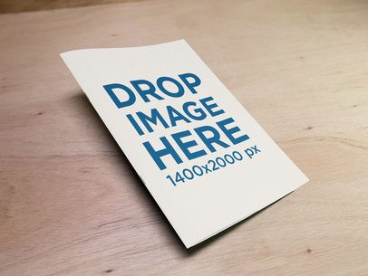 Big Catalog Mockup Lying on a Wooden Table a14592